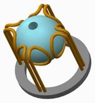 Imaginal diagram  of micro spherical ultrasonic motor