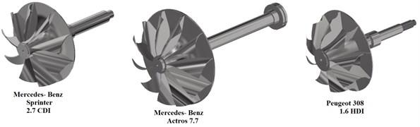 Turbine wheel virtual models [3]