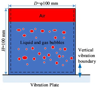 The physical model of vibration degassing