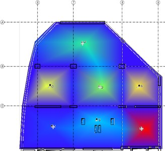 The fourth mode-shape from the experiment and the numerical model