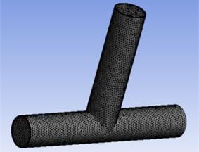 Sketch of T-tube model meshing