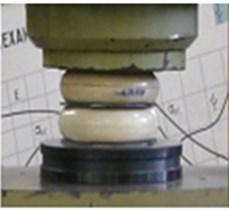 Loading scheme for testing elastomeric elements on a FU100 machine
