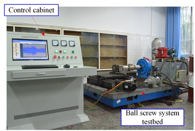 The experimental system for accelerated life tests of the ball screw system
