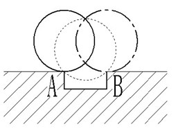Double impulses phenomenon illustration caused by peeling off the bearing outer ring