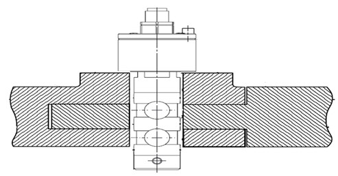 Correct positioning of the spindle during measurement of the adjusting force by spindle