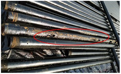 The eccentric wear of rod string in oil field