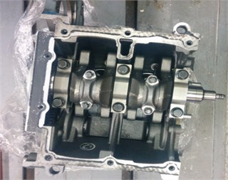 Test stand – TwinAir two-cylinder engine with 875 cm3 displacement