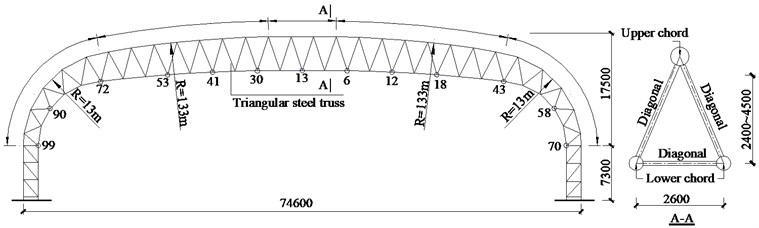 Configuration of the long-span steel truss structure