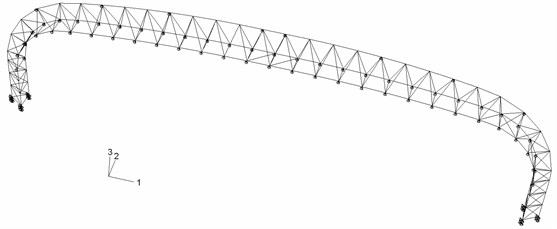 Finite element model of the long-span steel truss structure