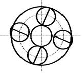 System vibration modes under mean gear mesh stiffness