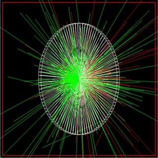 GEANT4 simulation result screenshot