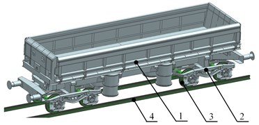 An object subjected to virtual investigations (freight wagon of the 418V type)