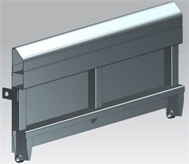 a) The type of type 418V freight wagon,  b) CAD model of the tested piece of 418V freight wagon's side