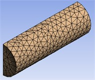 The overall three-dimensional mesh model