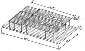 Finite element model – table top pedestal