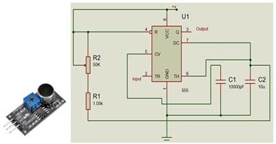 Noise sensor and internal circuit