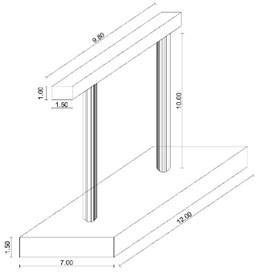 Geometry of the bridge's pier