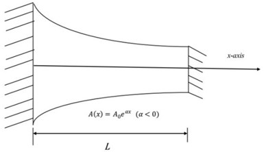 A Schematic view of typical inhomogeneous rods