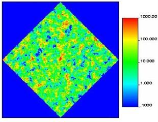 Heterogeneous permeability  medium (uncorrelated)