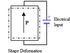 Direct and reverse piezoelectric effect [14]
