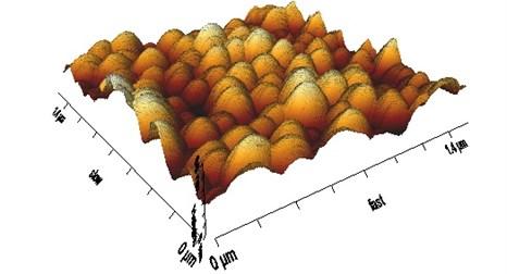 3D view of nanoporous aluminium oxide membrane