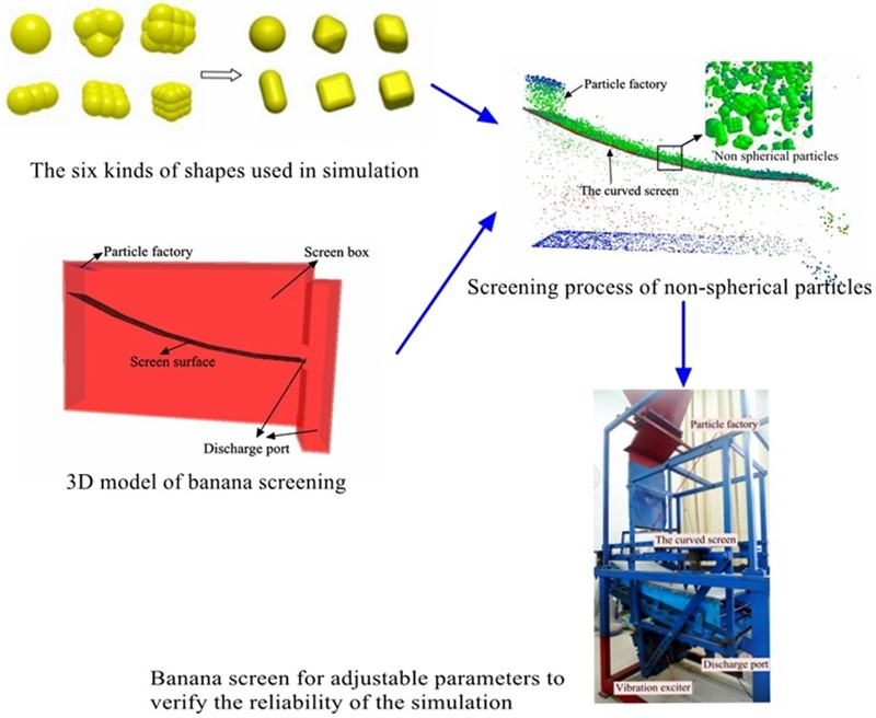 Performance optimization of banana vibrating screens based on PSO-SVR under DEM simulations