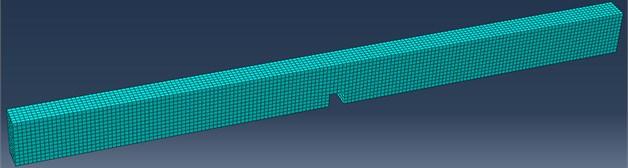 FE mesh of the steel beam