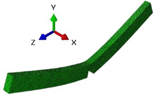 The first mode shapes for bending vibration around x-axis and y-axis