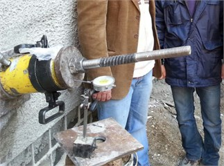 Pull-out test by using Enerpac 600 jack to pulling the rebar