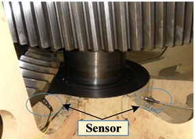 Vibration sensors installation schematic diagram