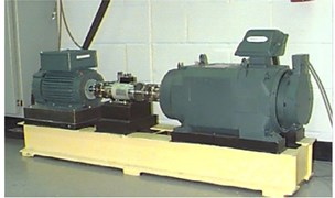 a) Motor drive fault test platform, b) schematic diagram of the tests platform
