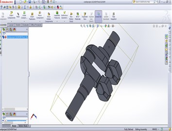 Crank shaft 3D model