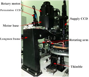 a) LED chip sorting machine, b) high-speed positioning experiment platform