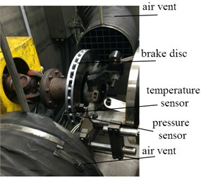 The installation sketch of disc brake
