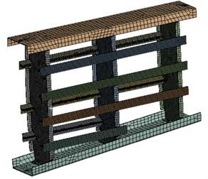 FEM model of wing box