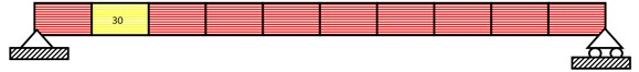 Damage results for single element damaged beam using BAT algorithm and PSO  (Element 2, Damage rate 30 % (D1)