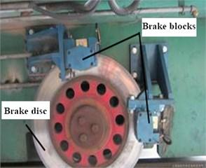 Schematic diagram of brake structure arrangement