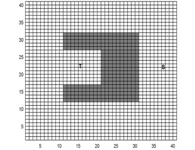 Complex environment grid map 1 and simple environment grid map 2