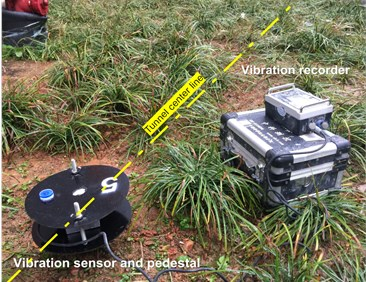 The photo of the field monitoring points