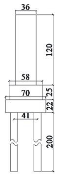 Schematic diagram of the model pier