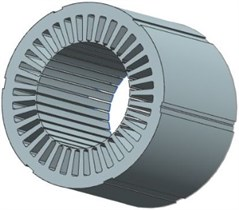Structural model of stator core