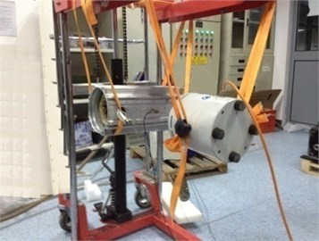 Modal testing spot of stator structure