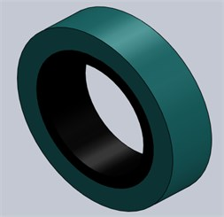 Finite elements model of a bearing: a) without mesh, b) with mesh