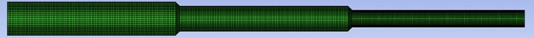 Variable aperture tube mesh model