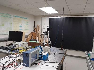 Photo of the experimental setup