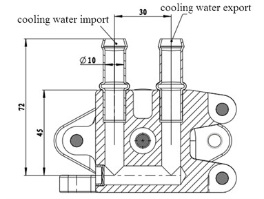 Structure of cooling water gallery