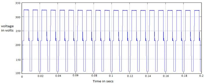 Output voltage before H-bridge inverter