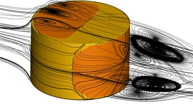 Flow field structure of the short cylinder