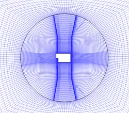 The numerical calculation model of TSB. a) Simulation model of flow field b) Inner and outer region of moving mesh c) y+ distribution of bullet