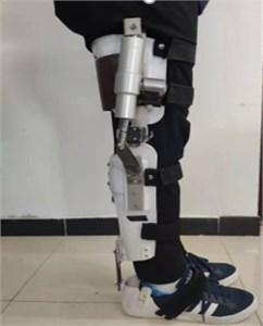 The human walking test with wearing exoskeleton